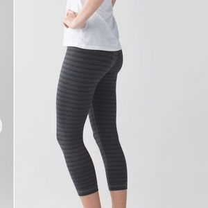 Lululemon textured striped slate crop